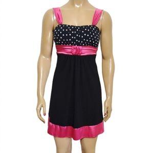Taboo Polka Dot Top Sleeveless Party Dress